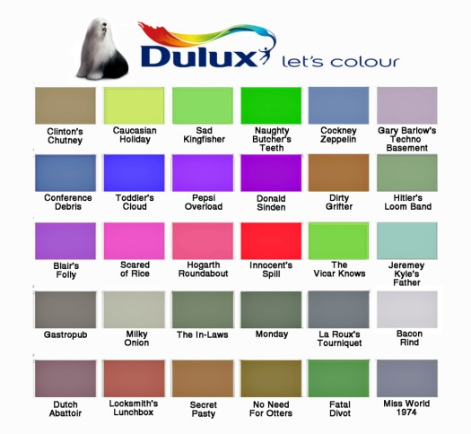 Kitchen And Bathroom Paint Colours: Dulux Kitchen Bathroom Paint Colours Chart